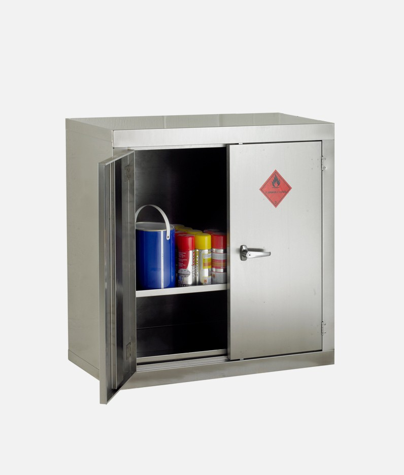 cabinet for hazardous products in steel