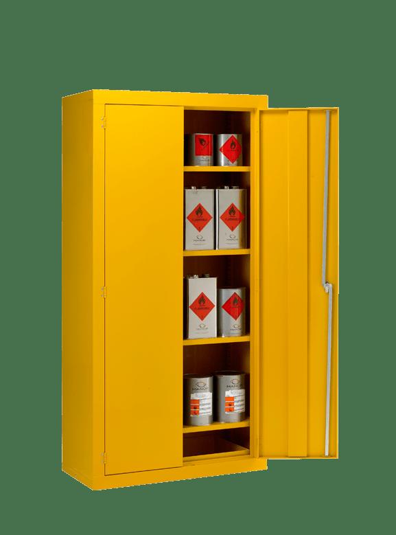 a hazardous bin cabinet