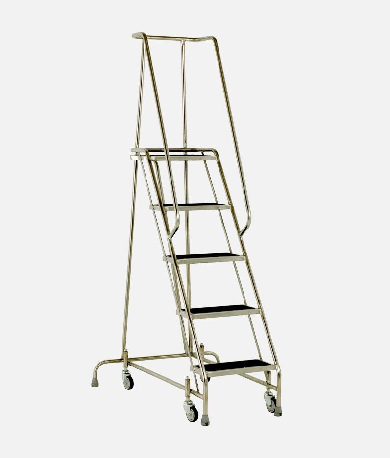 Stainless steel 5 tread steps