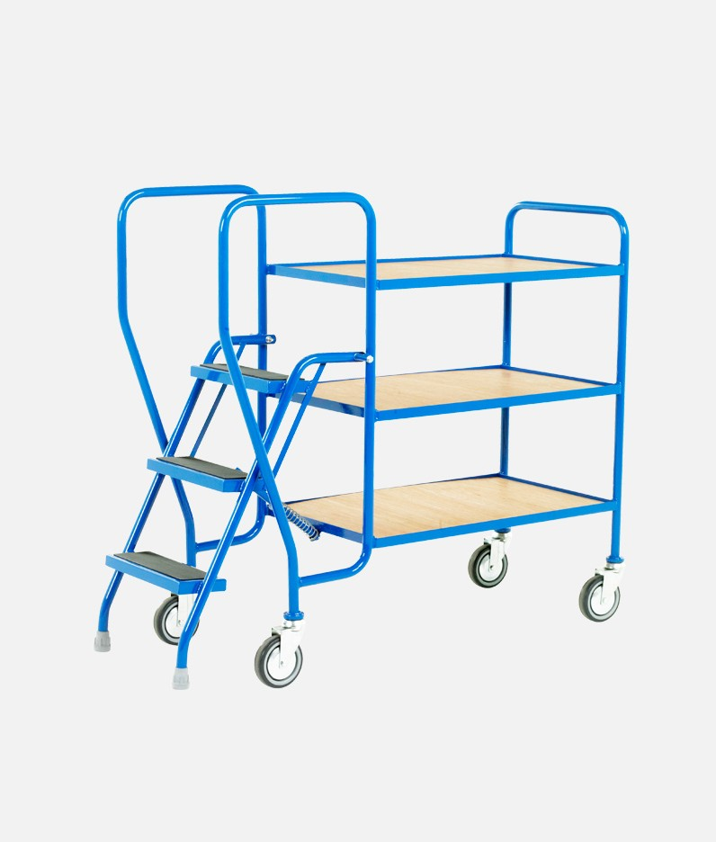 3 step trolley with trays