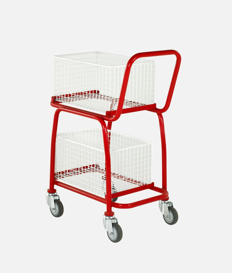 2 tier trolley with baskets attached