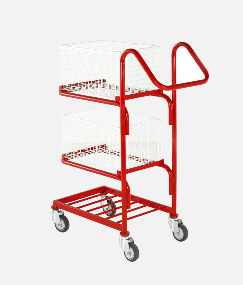 3 tier trolley with baskets attached