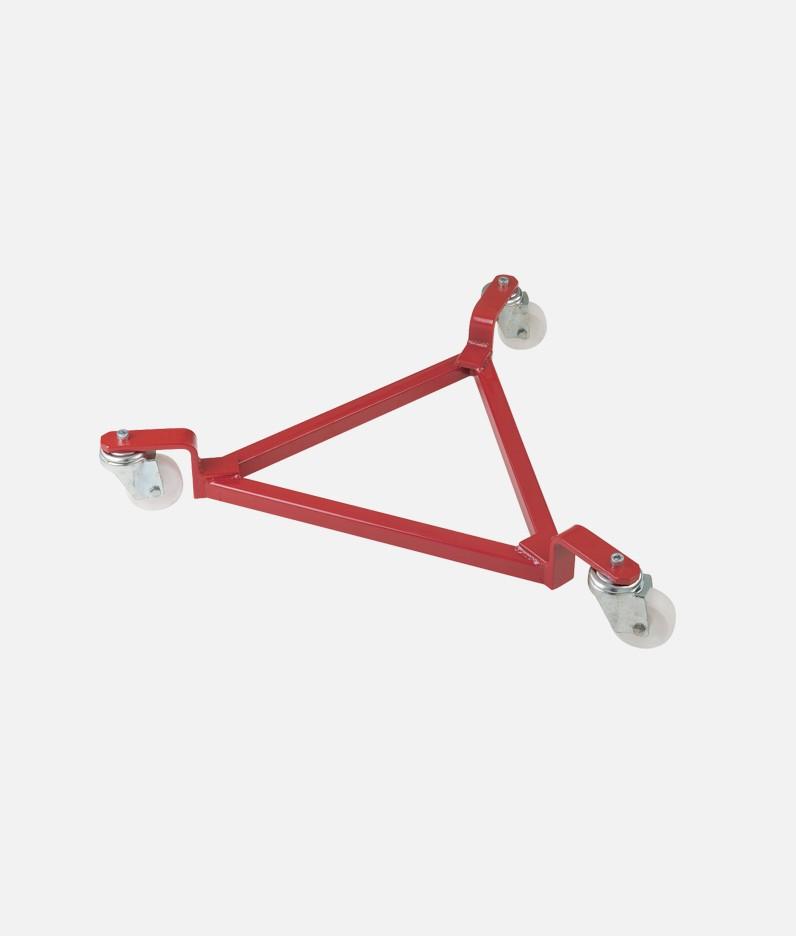 triangular drum trolley with three wheels