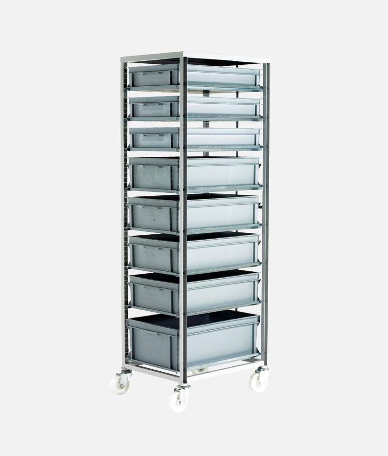 adjustable tray rack system