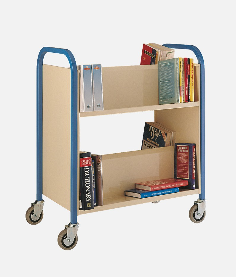 A book trolley for a library