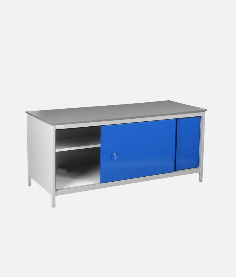 workbench with under cupboard