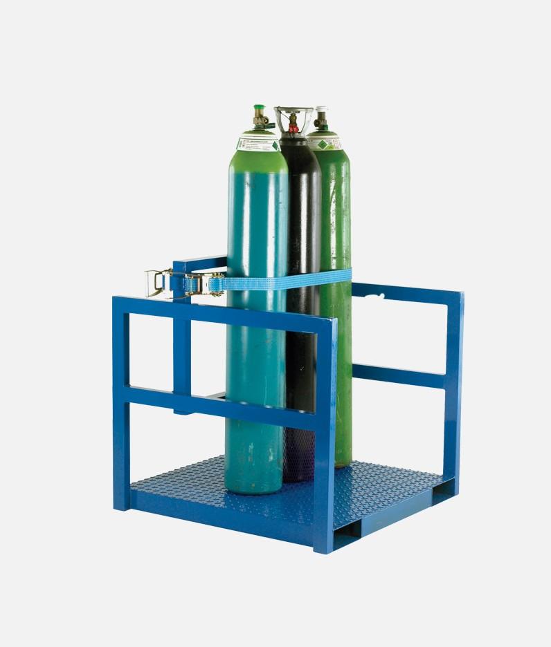 cylinder pallett with strap