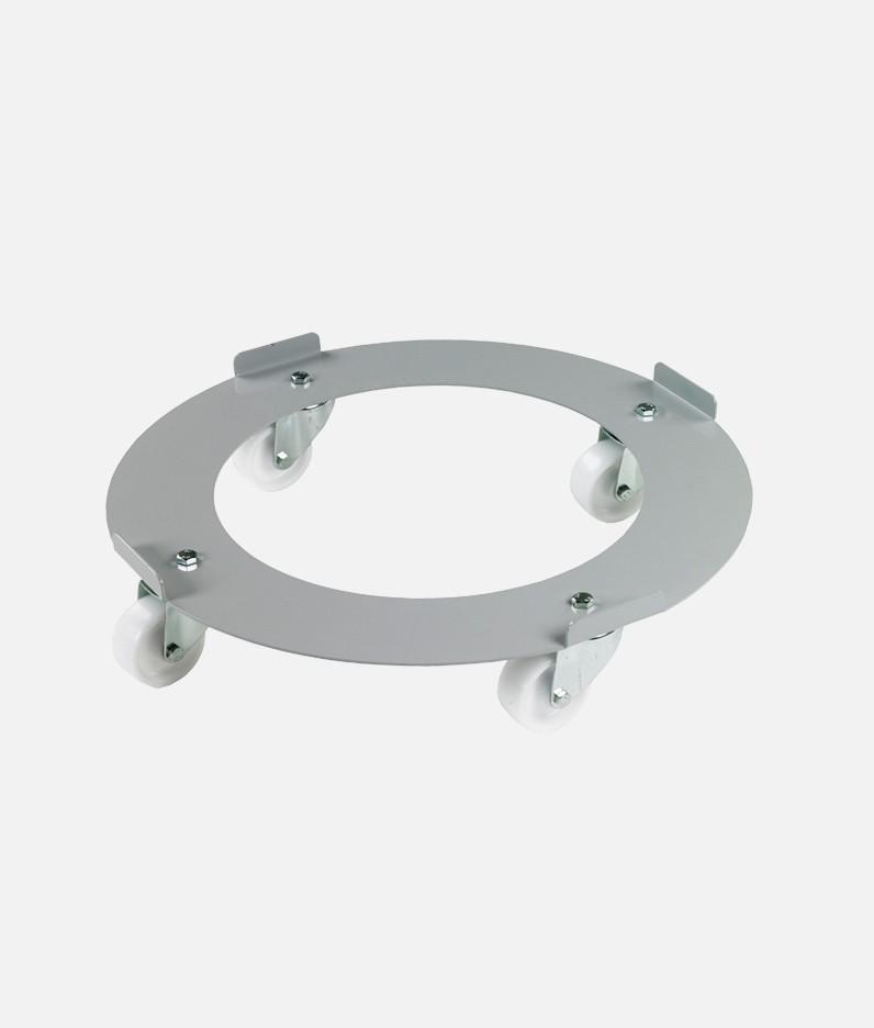 circular drum trolley woth castors