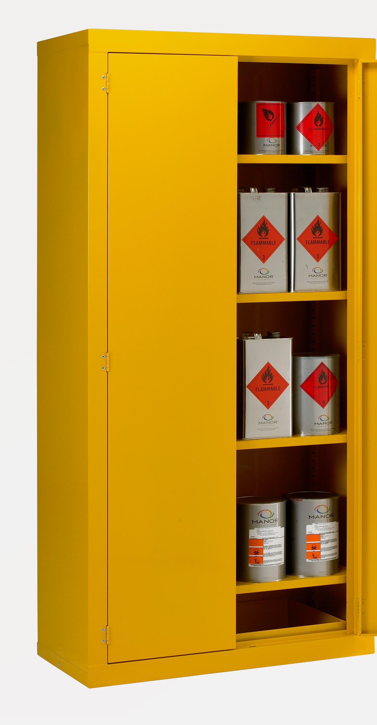 cabinet for hazardous products