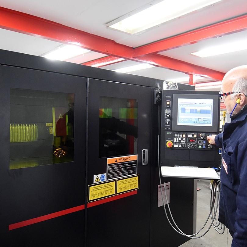 Operating a laser cutter