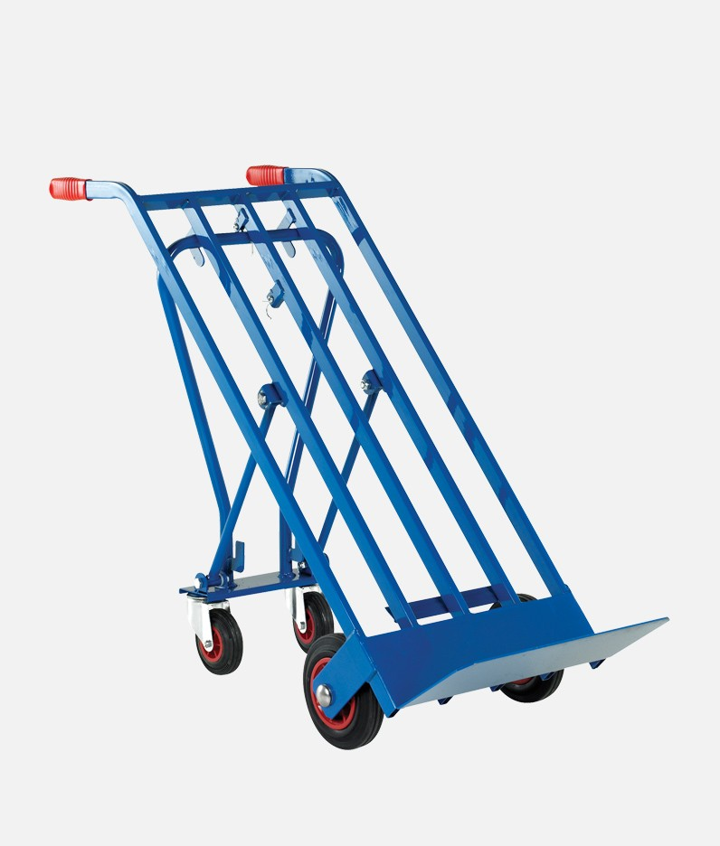 sack truck in tilted position