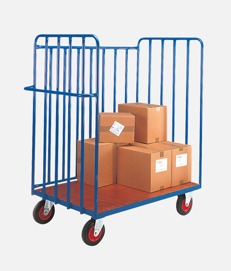 parcel trcuk carrying boxes
