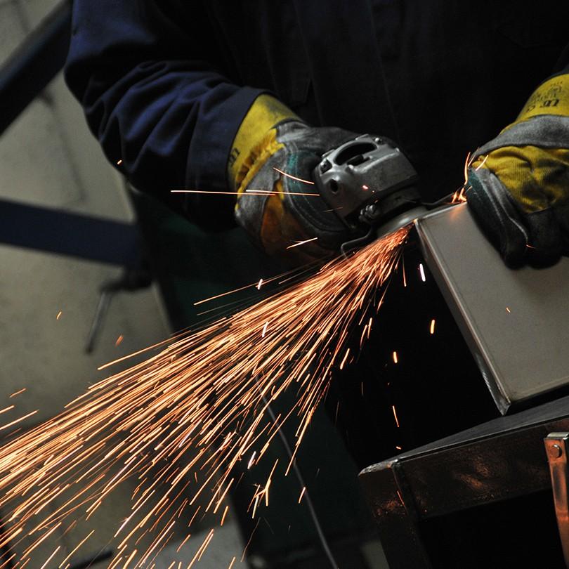 A welding preparing metal