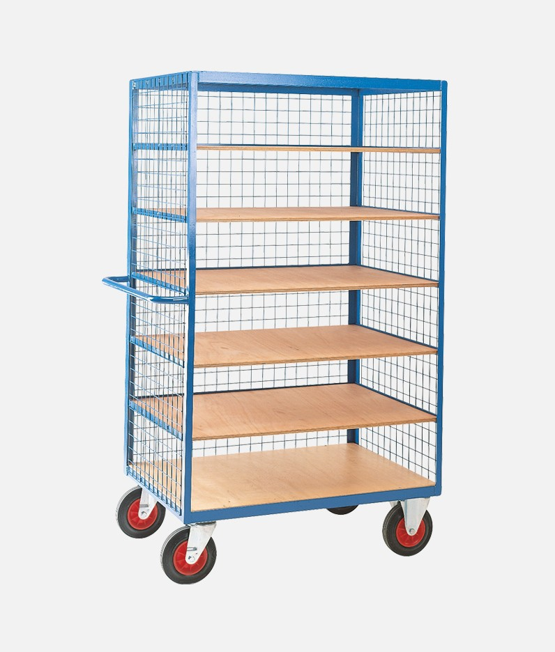 6 tier shelf truck with mesh sides