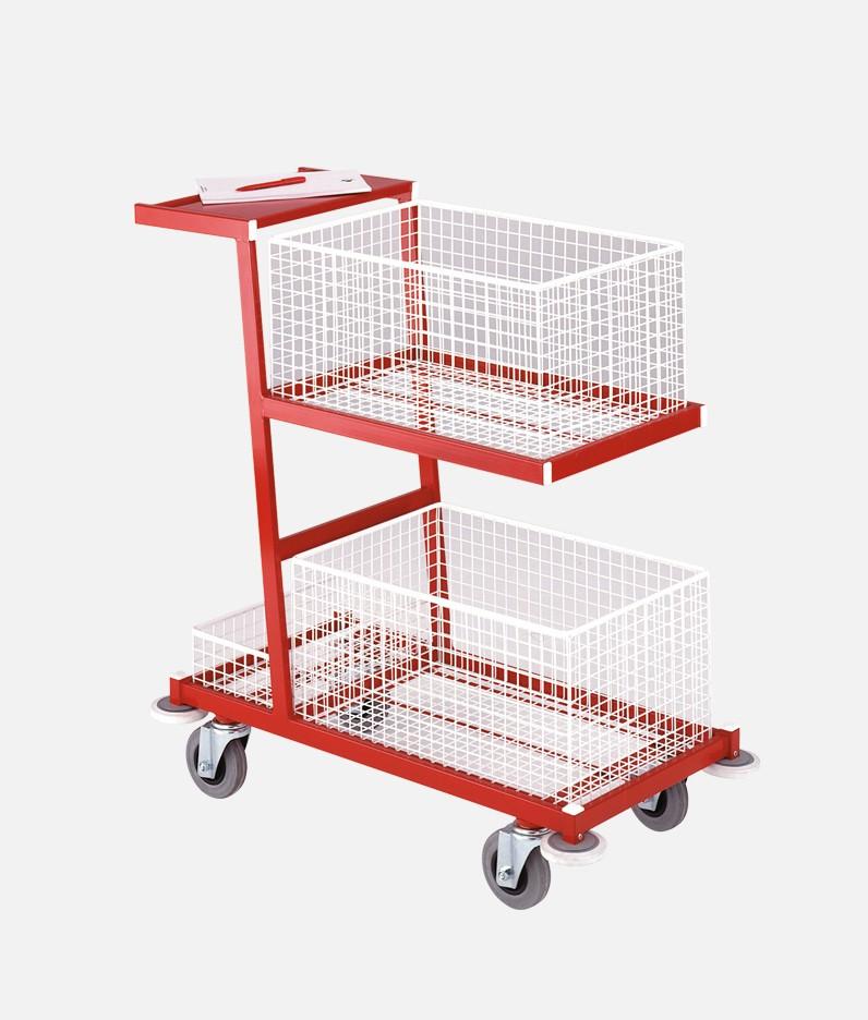 A service basket trolley
