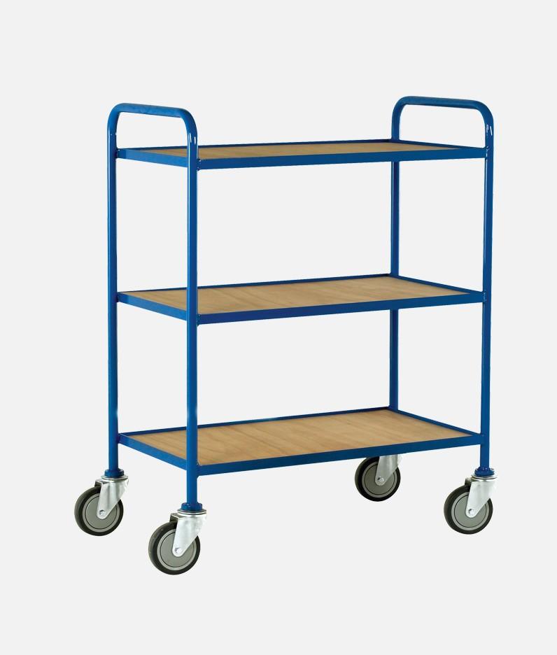 3 tier wooden tray trolleys