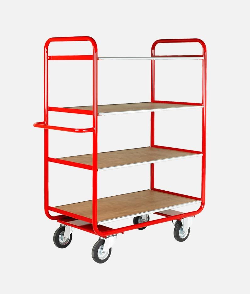a 4 tier tray trolley