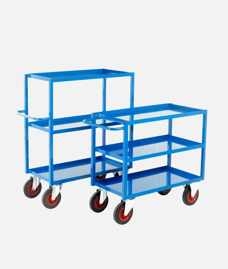 2 tray trolleys