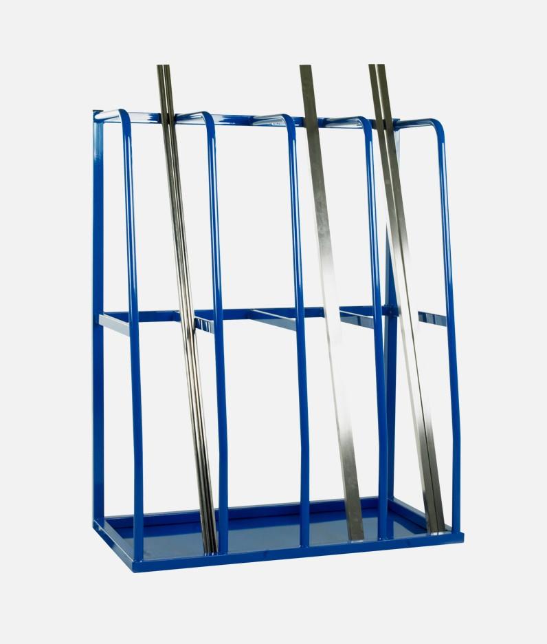 bars held in a rack