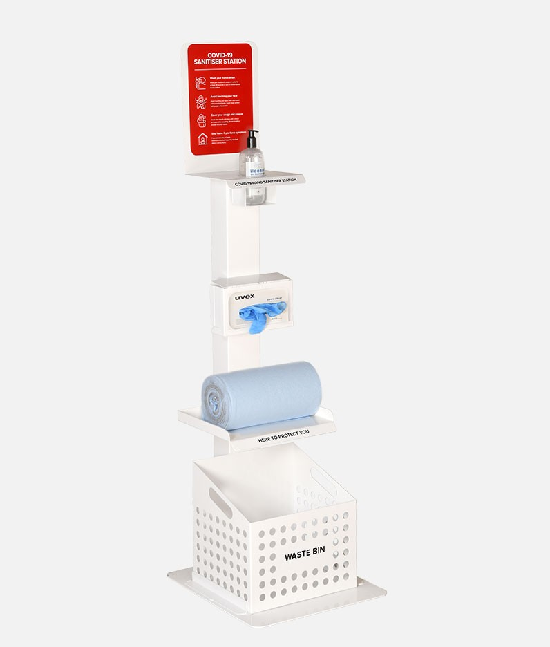 Deluxe Hand Sanitiser & Cleaning Station