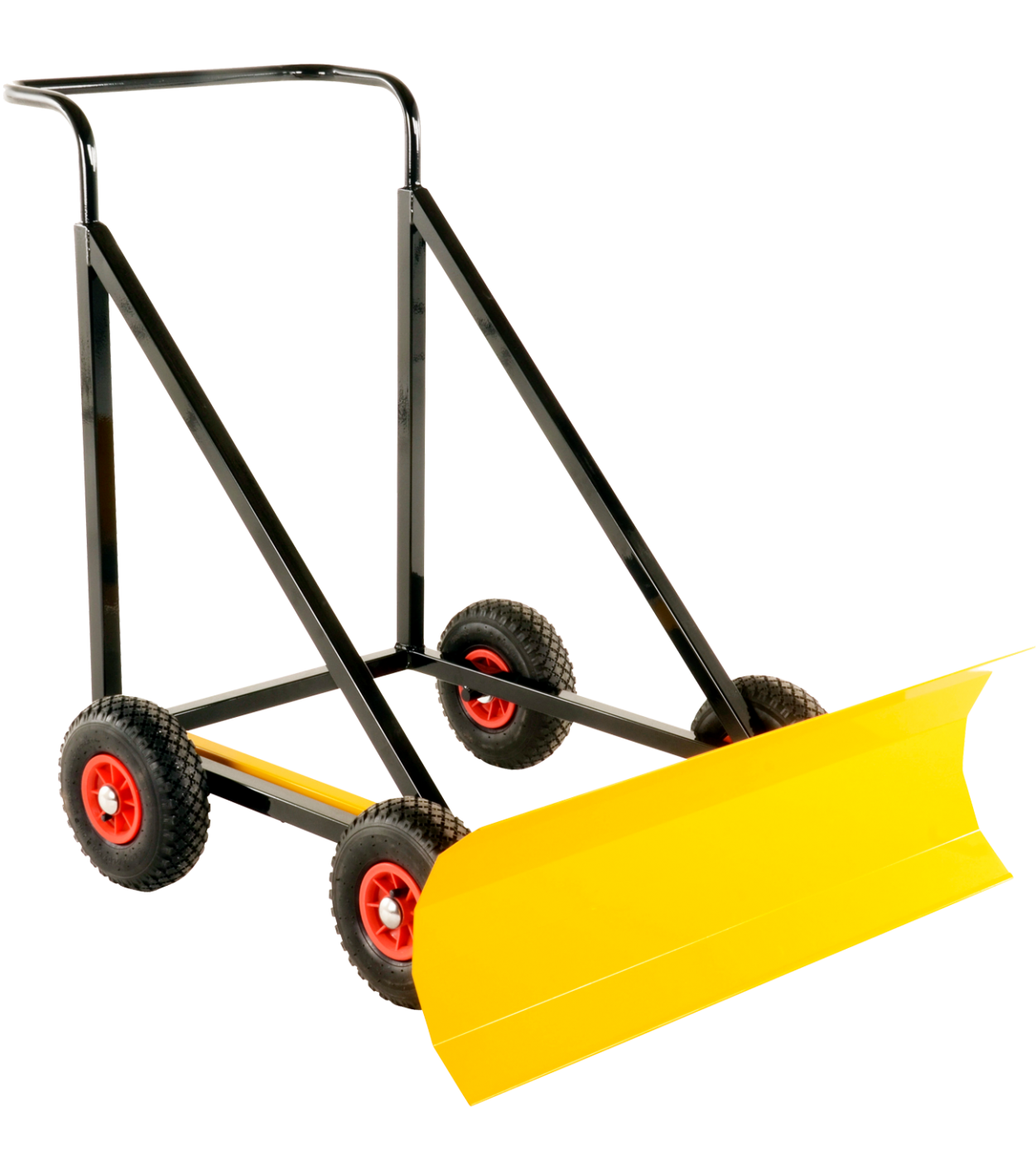 4 wheeled snow plough