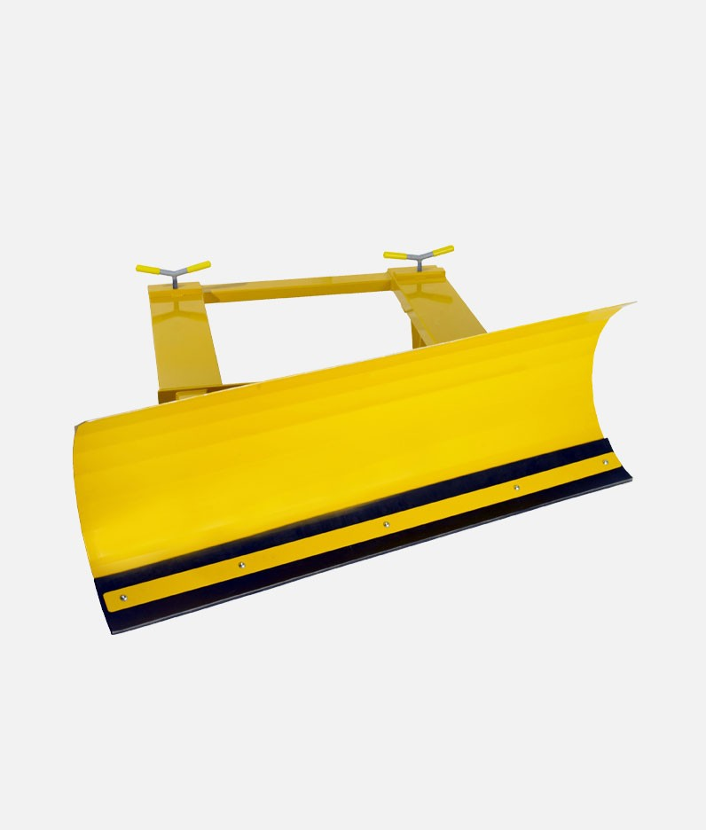 A snow plough attachment for fork vehicles