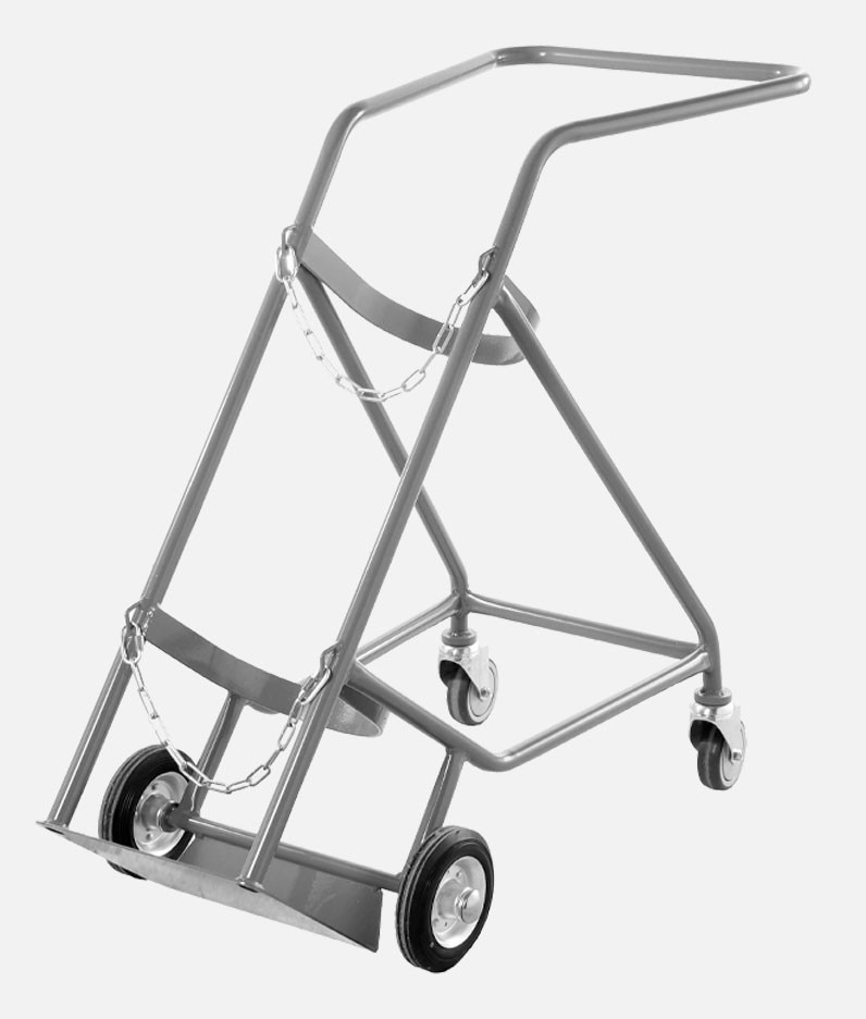 a cylinder trolley for oxygen cylinders